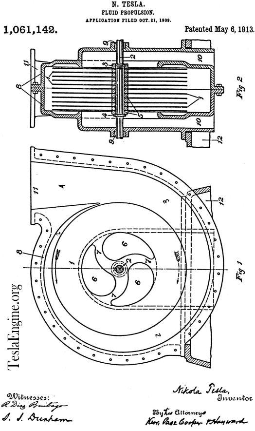 TESLA TURBINE ENGINE LINKS